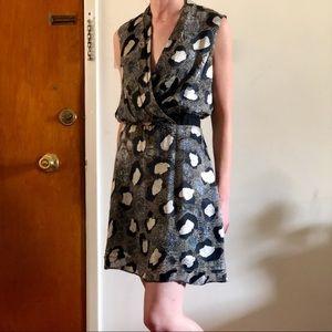 Anthro Silk & Velvet Dress
